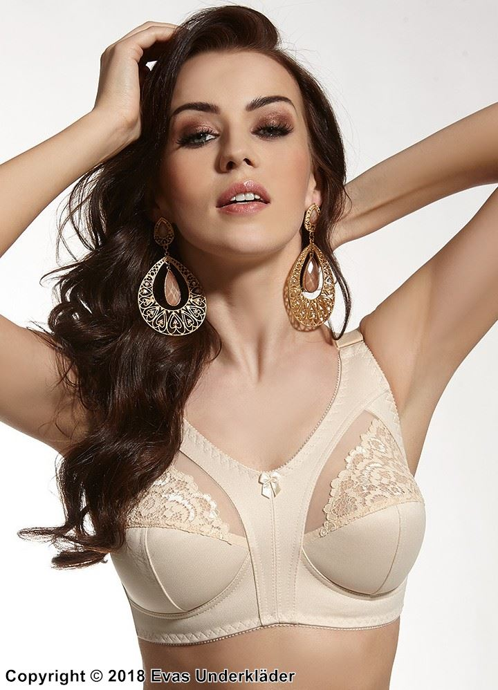 Soft bra, smooth and comfortable fabric, lace, B to I-cup